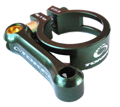 MTB SEAT CLAMP 31.8 green